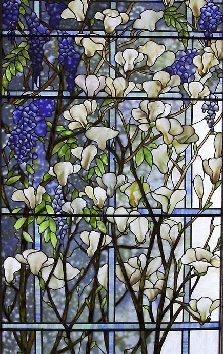 Stained Glass - Magnolia and Wisteria, Tiffany Studios | http://youtu.be/f7o1QQKU0UU