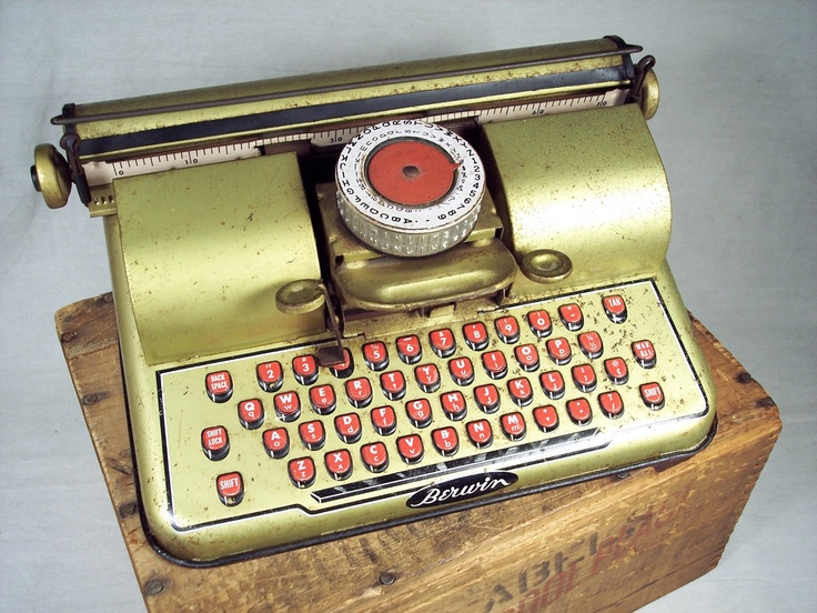 Image result for toy typewriters of the forties