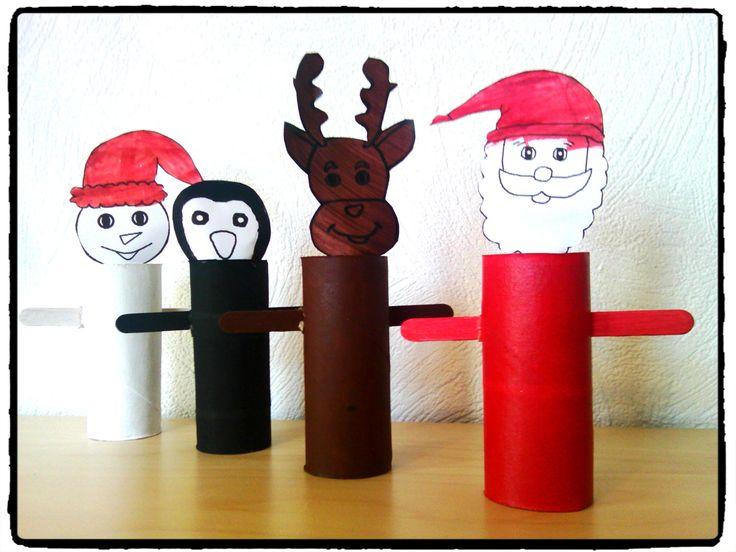 bricolage de noel bricolage enfant personnages de noel en rouleaux de papier toilette pere