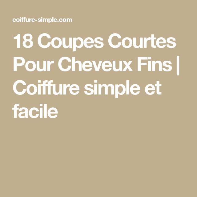 18 Coupes Courtes Pour Cheveux Fins   Coiffure simple et facile