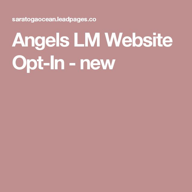 Angels LM Website Opt-In - new