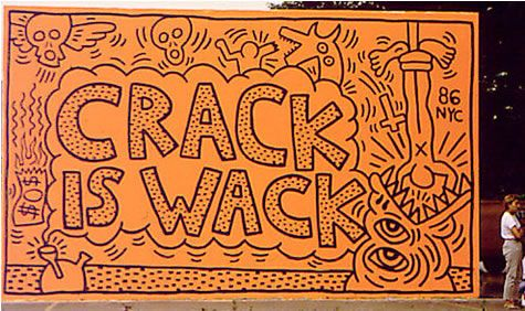 Keith Haring, Crack is Wack,1986