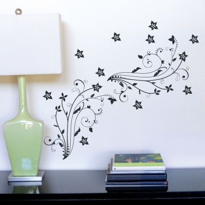 Black Swirls Peel and Stick Wall Art - from Michaelu0027s. Finished dimensions:  24.75