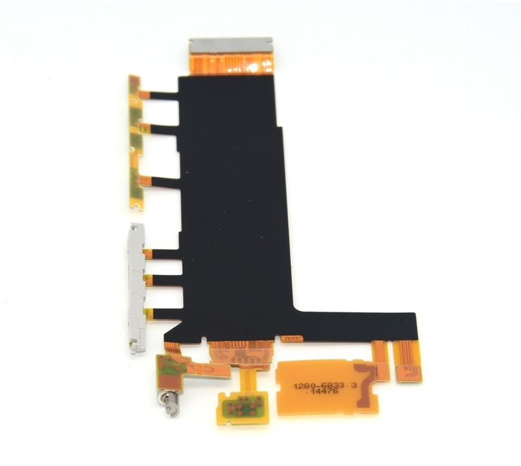 For Sony Xperia Z3 Dual D6633 D6683 Z3 L55T D6603 Power Flex Cable on/ off Volume Button flex cable with Vibration Motor