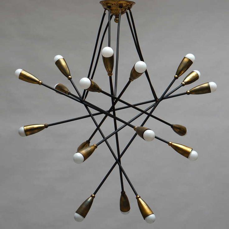 gino sarfatti chandelier   Arteluce Chandelier Attribution - Gino Sarfatti image 2