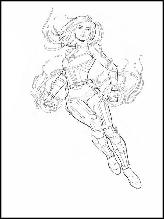 Captain Marvel 23 Printable Coloring Pages For Kids Captain Marvel 23 Printable Coloring Pages In 2020 Superhero Coloring Pages Avengers Coloring Pages Marvel Coloring