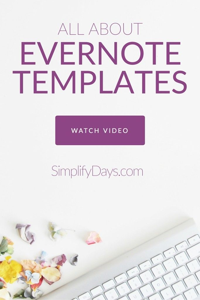 Have you ever heard of an Evernote Template? Learn all about organizing and simplifying your life with Evernote Templates + get instant access to my full collection of free digital templates designed specifically for Evernote. // SimplifyDays.com