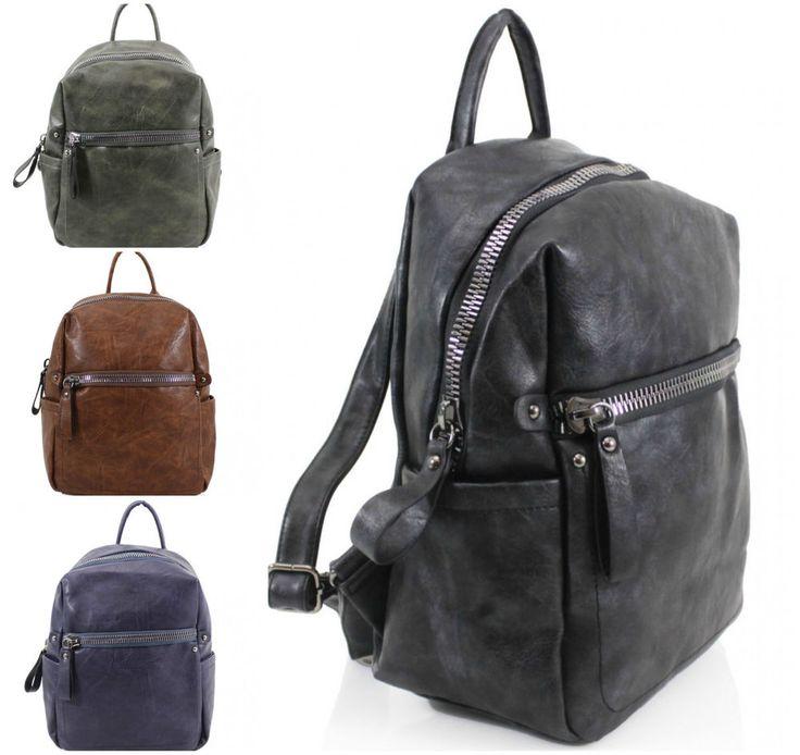 Girls Strong Zipped School Backpack Women Shoulder Bag Rucksack Gym Travel Bags