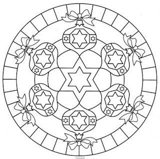 Christmas ornament mandala