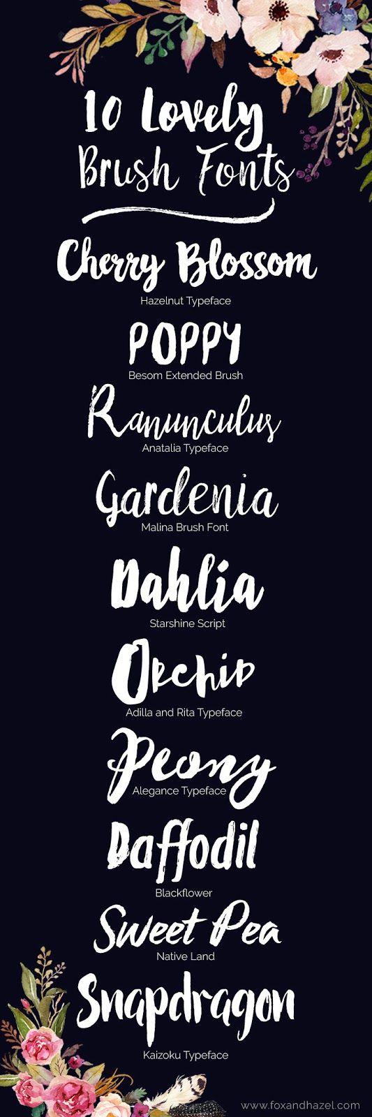 10 Brush Letter Fonts I Love // Fox & Hazel
