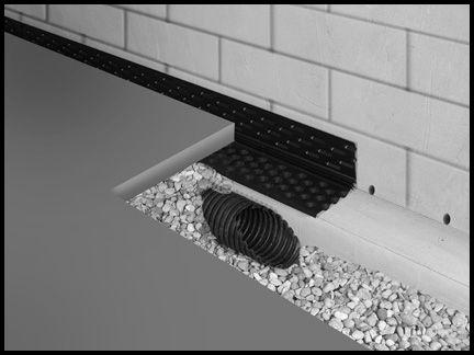 Form a drain foundation drainage system foundations pinterest more foundation drainage for Exterior foundation drainage solutions
