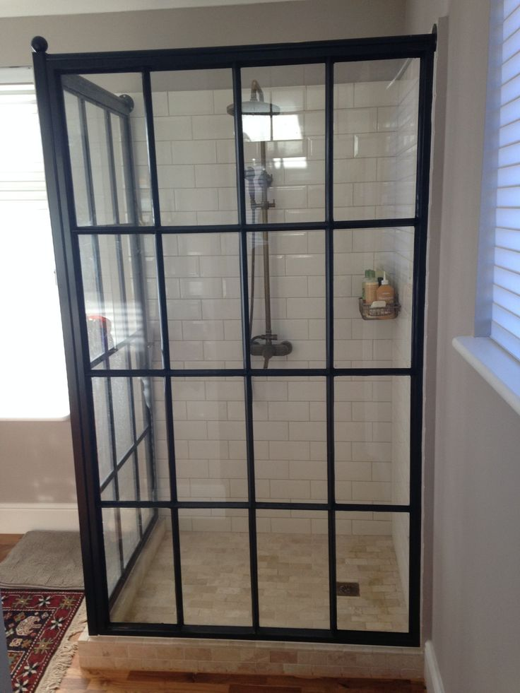 Best 25 Industrial Shower Doors Ideas On Pinterest