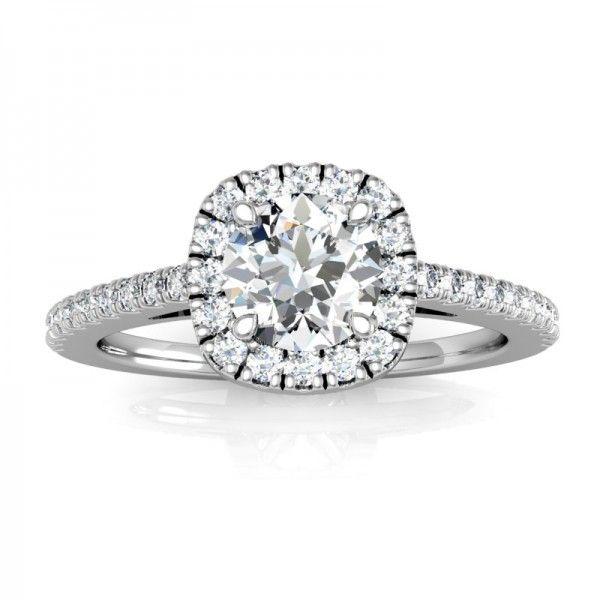 Der Firwork Verlobungsring mit 0.86 ct Diamantbesatz.  #Haloring #Diamantringe #Verlobung #Verlobungsringe #VERLOBUNGSRING.de