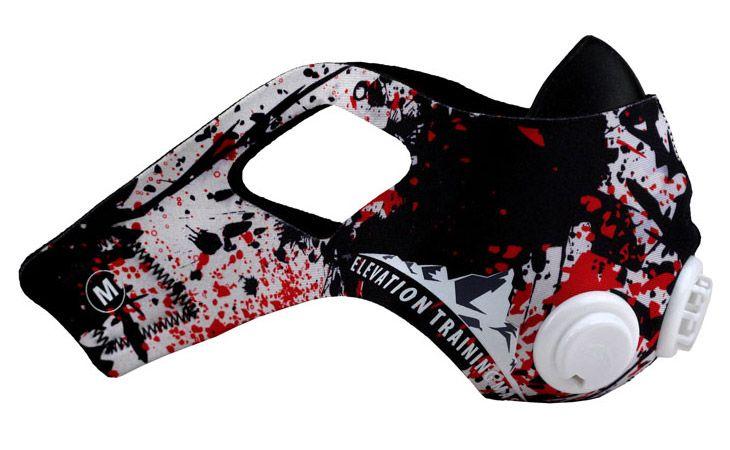 Elevation Training Mask 2.0 Splatter Sleeve - Black, Red & White at http://www.fighterstyle.com/elevation-training-mask-2-0-sleeve-collection-p3/
