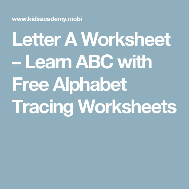 Common Worksheets » Tracing Letters And Numbers Worksheets ...