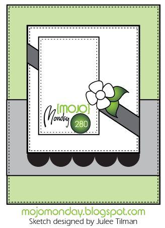 Mojo Monday #280 card sketch. Designed by Julee Tilman #mojomonday #vervestamps