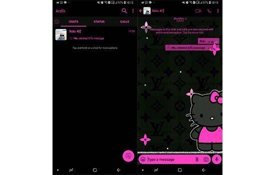 6 Tema Whatsapp Hello Kitty Terbaru Lucu Dan Cantik Jalantikus Com Tema Bbm Keroppi Bbm Whatsapp Mod V2 13 0 22 Hello Kitty Pink Hello Kitty Hello Kitty Cake