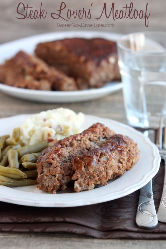 Steak Lovers' Meatloaf has A-1 steak sauce inside and out to make this a tender, flavorful meatloaf! on MyRecipeMagic.com