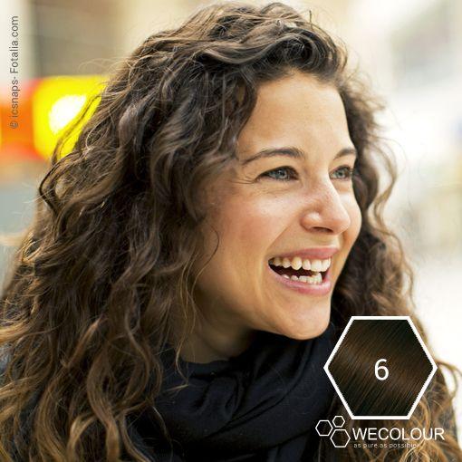 Natuurlijk lichtbruin - een natuurkleur met prachtige dekking. #6.0 wwww.wecolour.com #haarverfzonderammonia