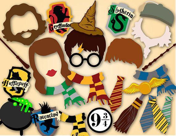Instant Download Harry Potter Photo Booth Props por OneStopDigital