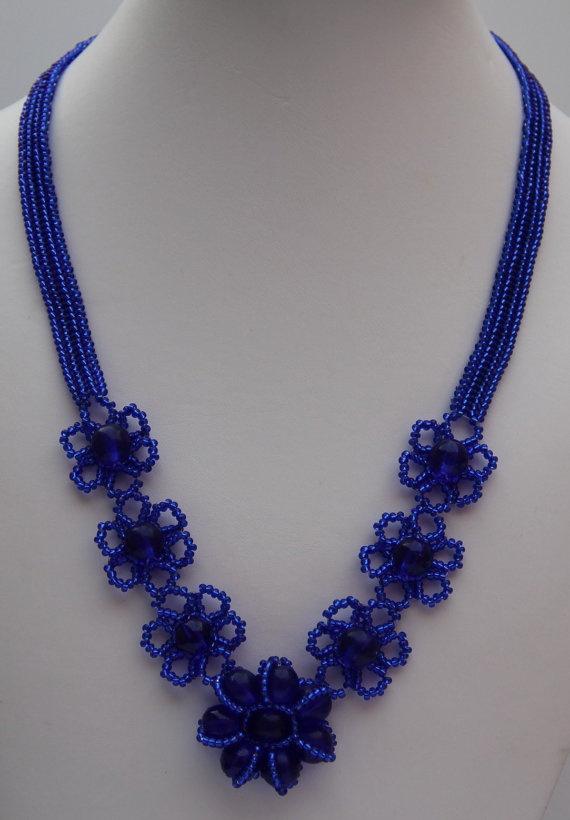 Lapis Lazuli Natrual Gemston Necklaces by BeadyButterflies on Etsy, $20.00