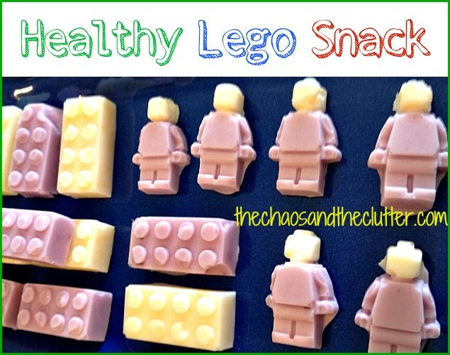 Awesome Lego Snack - healthy and so easy! Could do any moulds too.