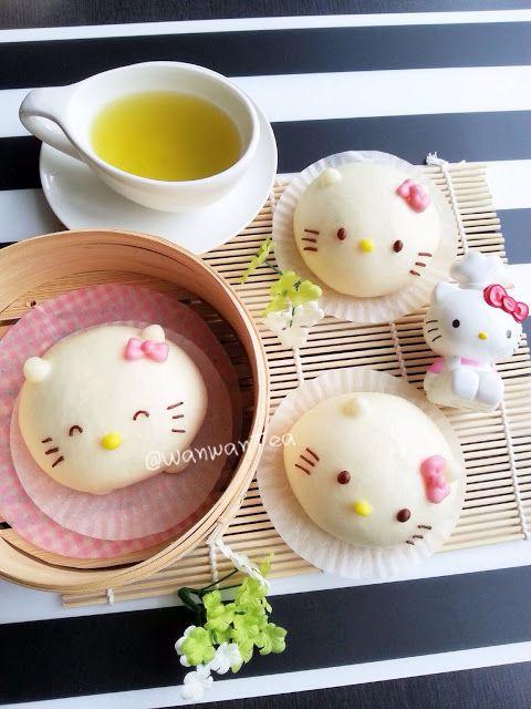 凯蒂猫流沙包Hello KItty Salted Egg Yolk Custard Buns