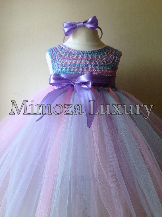 Cotton Candy cumpleaños Tutu vestido vestido de la por MimozaLuxury