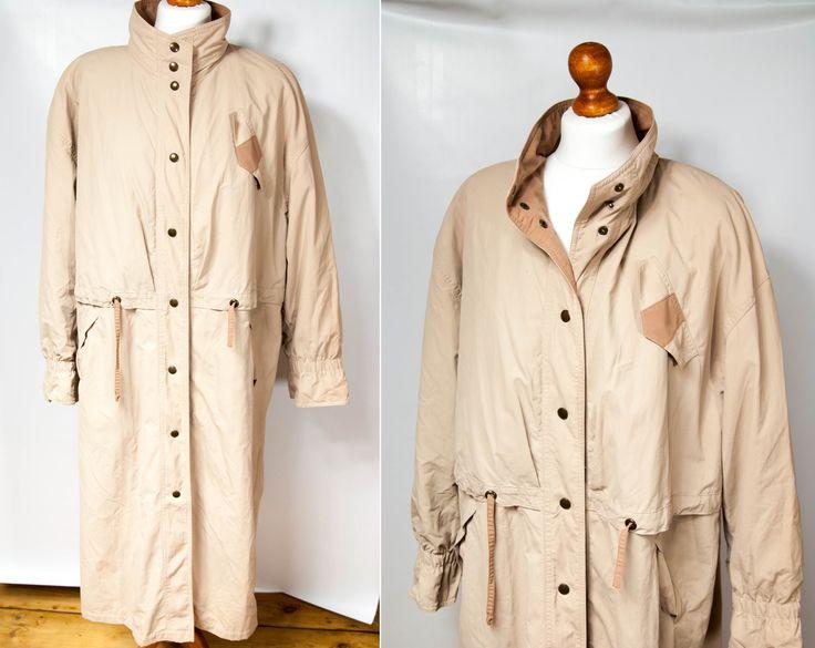 1990's vintage coat, 1990s coat, XL coat, large coat, vintage coat large, blush pink coat, 90s clothing, women's coat vintage, long coat by VintageEuropeDesign on Etsy