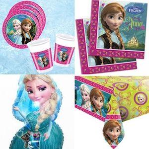 24 Kişilik Karlar Ülkesi Frozen Elsa Doğum Günü Parti Seti Lux - Doğum Günü Süsleri   Nice Yaşlara