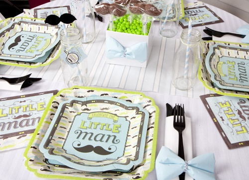 Cute Baby Shower Place Setting In The Dashing Little Man