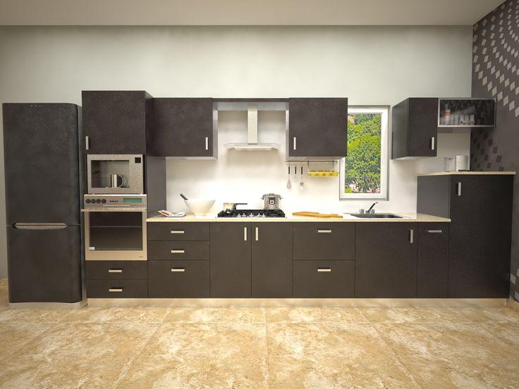 AAMODA kitchen: Glossy Laminated Indian Parallel Kitchen visit us- http://www.aamodakitchenideas.com