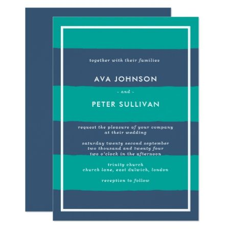 Modern Stripes Wedding Invitation - click/tap to personalize and buy