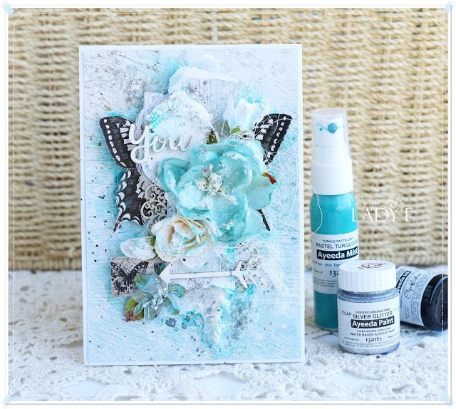 13arts: Mixed Media Butterfly Card by Lady E