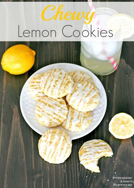 The BEST chewy lemon cookies recipe! Tons of bright lemon flavor.