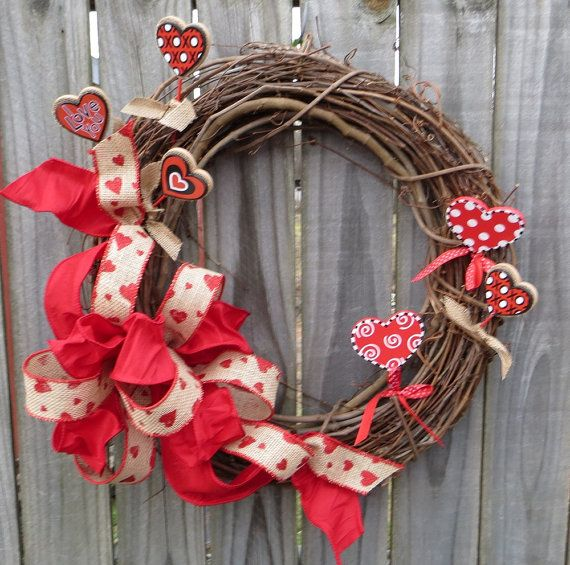 Valentine 39 s day wreath burlap valentine wreath burlap for 3 wreath door decoration