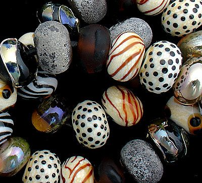 dsg beads handmade organic lampwork glass made to order african plains