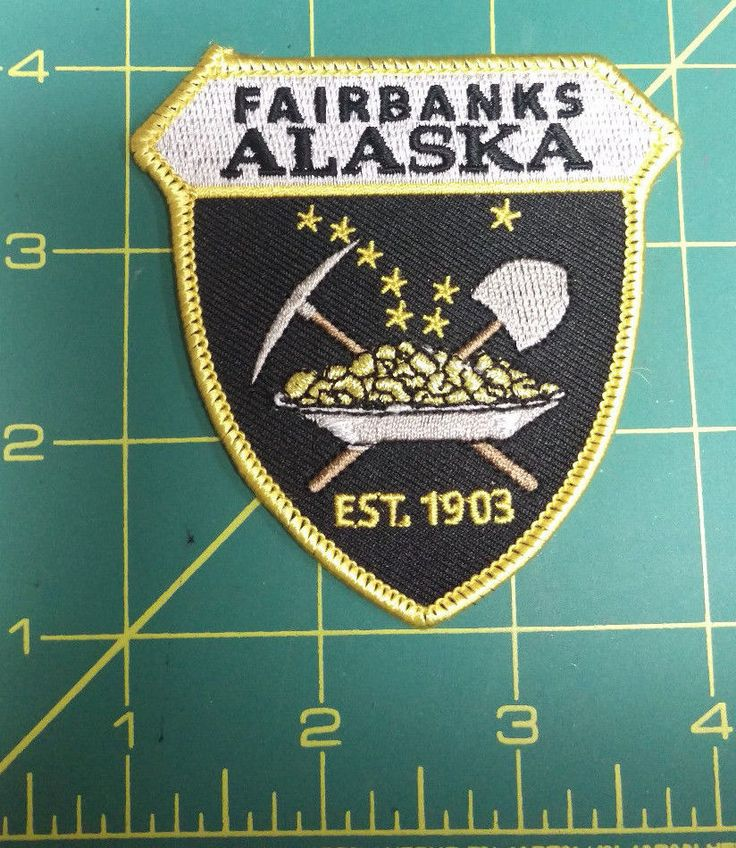 Alaska Major Cities Map%0A Fairbanks Alaska iron on Embroidered Patch w Goldpan shovel  pick  u     Big  Dipper