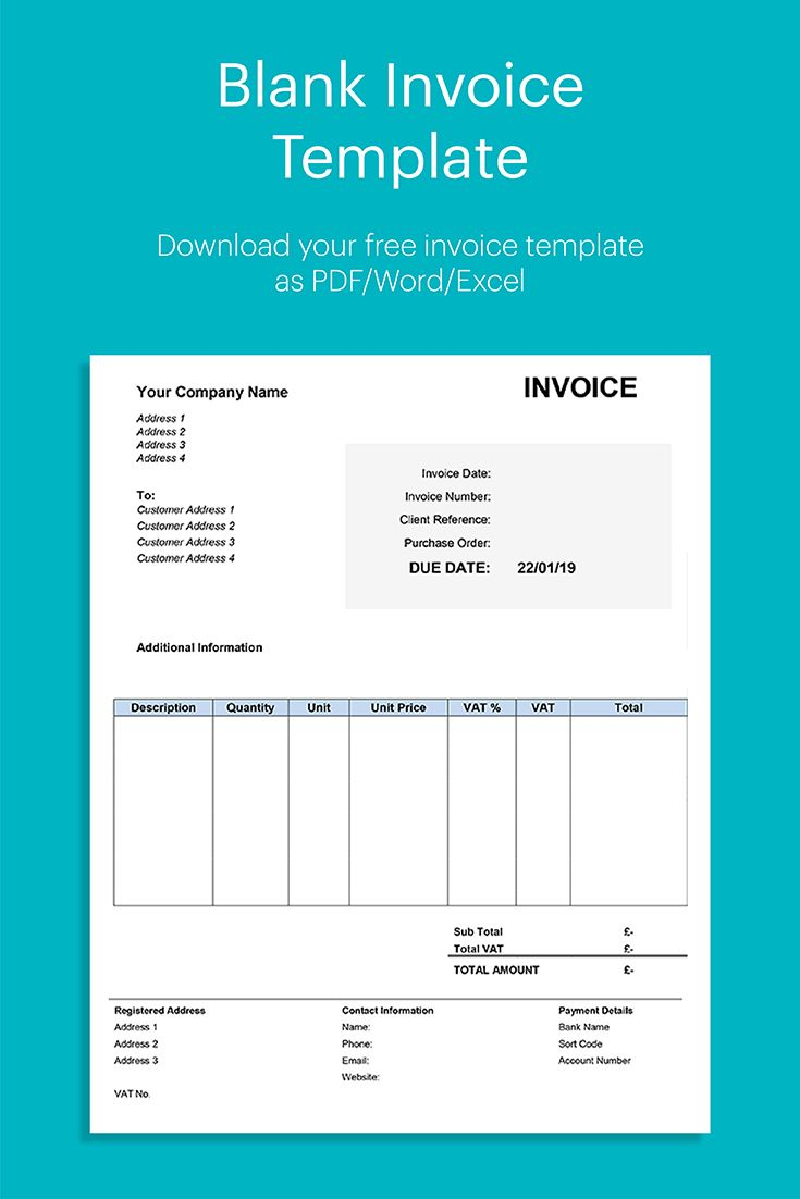 Blank Invoice Template Zevant Invoicing Software Invoice