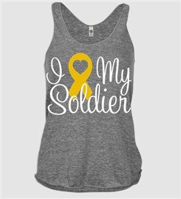 I Love my Yellow Ribbon Racer Back Tank by VelvetandStoneShop, $39.00