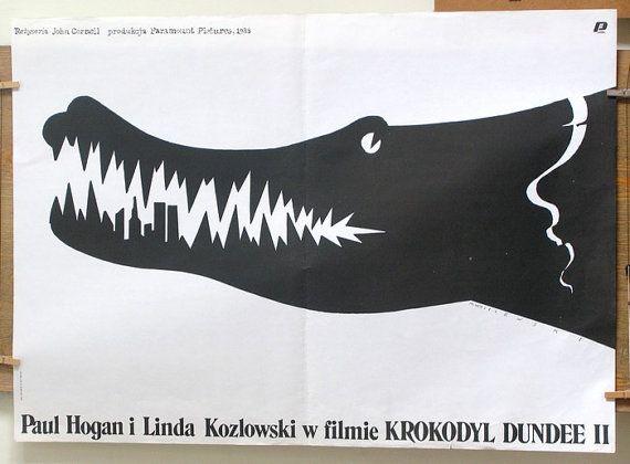 Crocodile Dundee II .American cinema. POLISH SHOOL by artwardrobe, $99.99