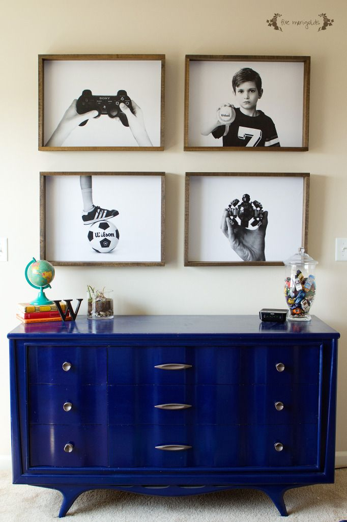 Engineer Prints for around $20 at FedEx - great for bedroom, playroom, hallway