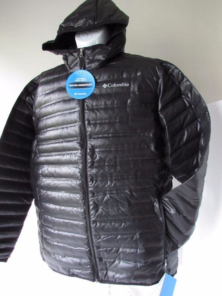 COLUMBIA Mens Flash Forward Down Hooded Jacket-650 Fill Power Down Insulation L #Columbia #Puffer