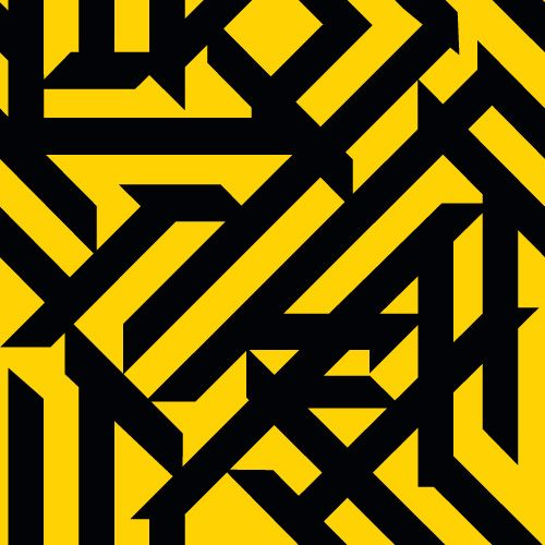 Hazard - Peter Saville Album Sleeve Design. This is a very bold design and even with only 2 colours it's very eye catching, this will be because the yellow is so bright. It very much fits the name of the album, Hazard, as most warning signs and warning tapes use these 2 colours and block shapes.