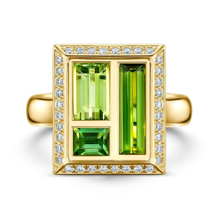 GABRIELLE'S AMAZING FANTASY CLOSET | Andrew Geoghegan Chocolate Box Green Tourmaline Cocktail Ring |