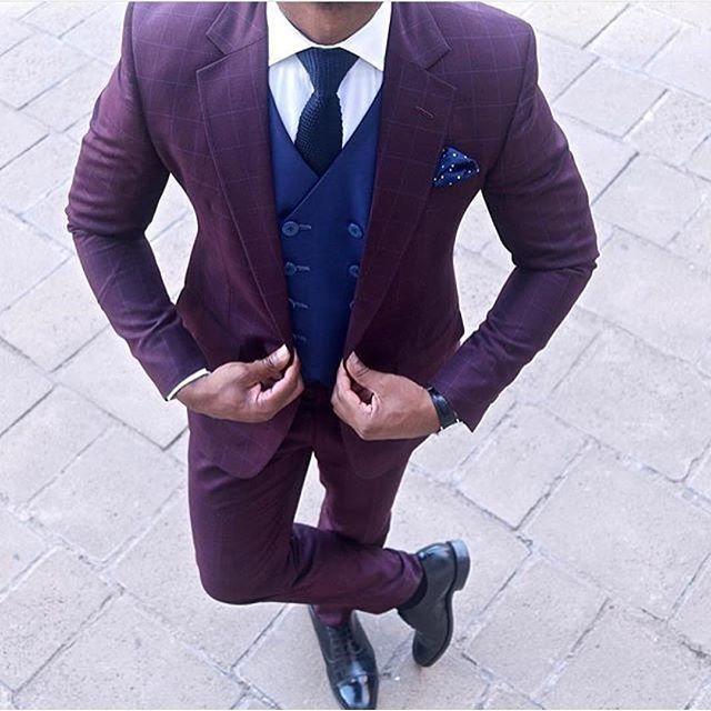Purple Men Suit www.ScarlettAvery.com