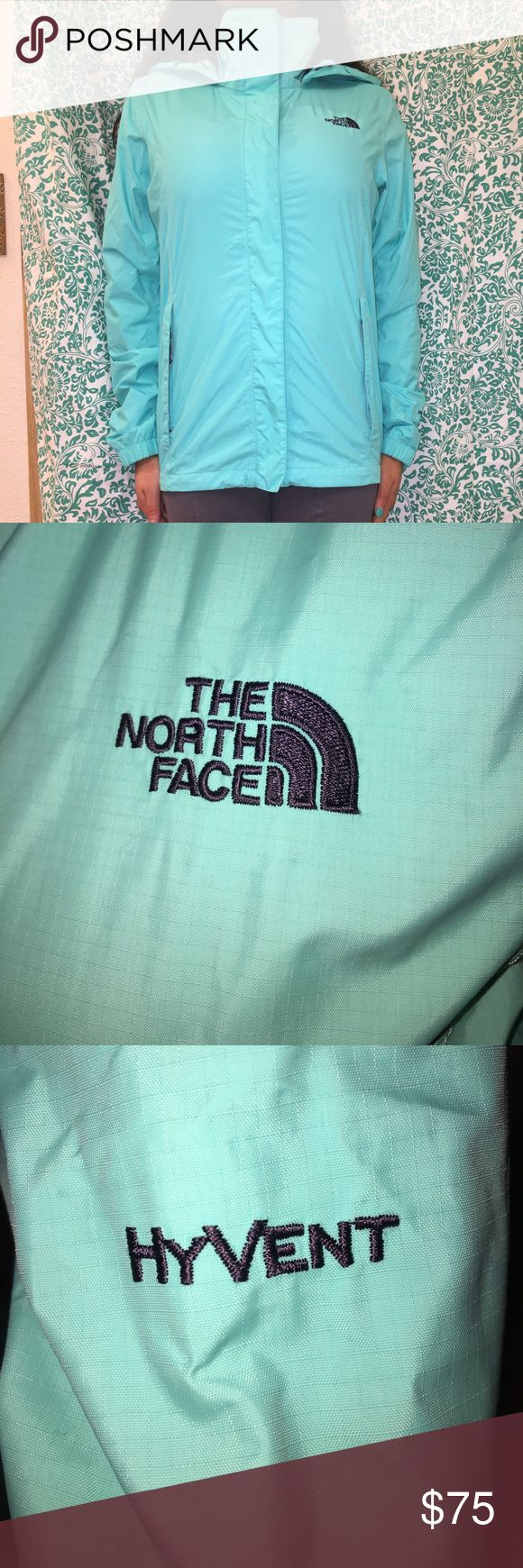 ☔️The North Face windbreaker jacket☔️ This jacket was only used at least 5 times and has no damage or stains on it! It is extremely comfortable and warm to wear in the rain or snow! The North Face Jackets & Coats