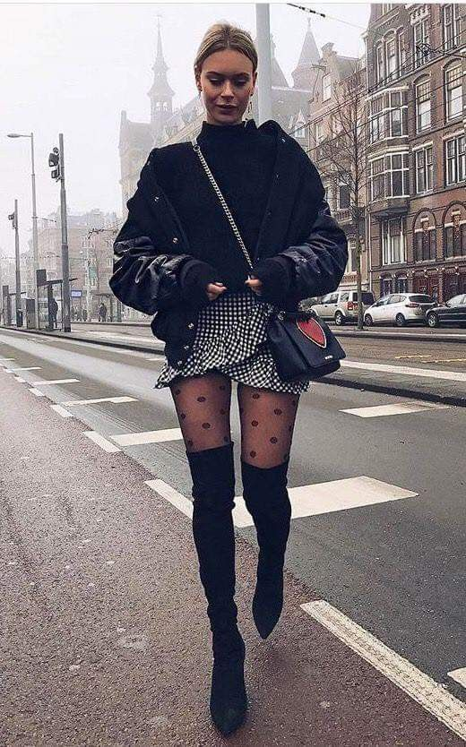80 Cute Casual Winter Fashion Outfits For Teen Girl fashion # fash., Winter Outfits, 80 Cute Casual Winter Fashion Outfits For Teen Girl fashion # fash. Winter Mode Outfits, Fall Outfits, Cute Outfits, Casual Outfits, Night Outfits, Outfits 2016, Black Outfits, Black White Outfit Men, Skirt Outfits