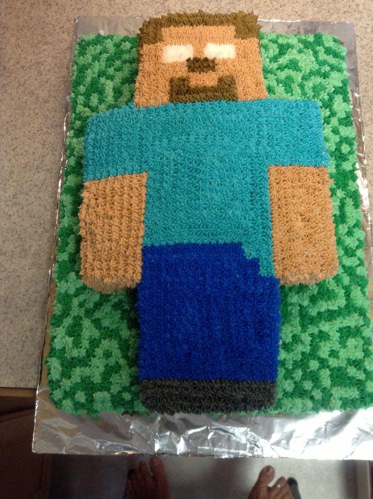 Minecraft Herobrine Cake Cakes Pinterest Cakes