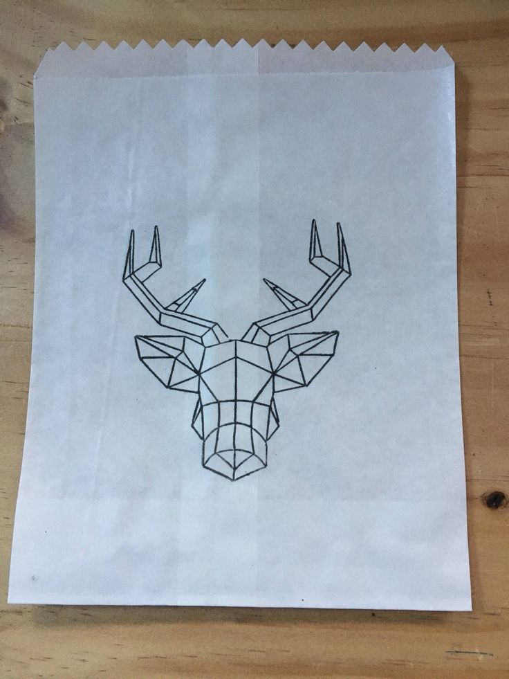 A personal favourite from my Etsy shop https://www.etsy.com/au/listing/527158829/geometric-deer-bags-25-x-white-paper